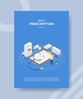 Concepto de prescripción médica para plantilla.