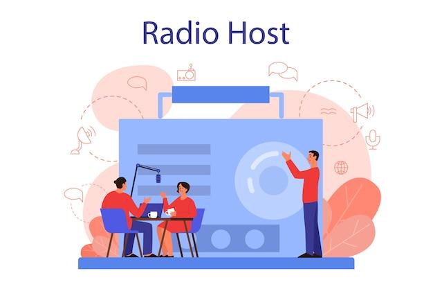 Concepto de presentador de radio