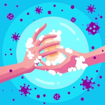 Concepto de prevención de coronavirus