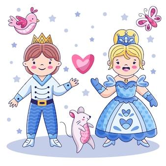 Concepto de princesa cenicienta