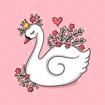 Concepto de princesa cisne