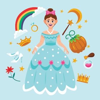 Concepto de princesa de cuento de hadas