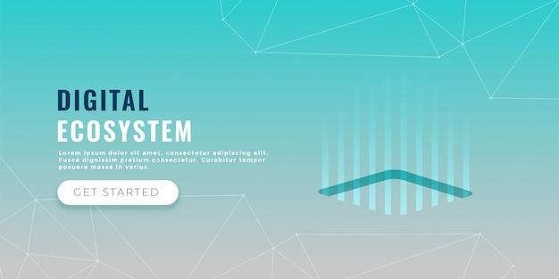 Concepto de procesamiento de datos banner diseño