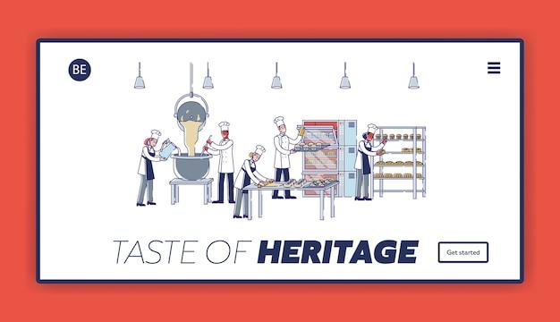Concepto de proceso de fabricación moderno en panadería
