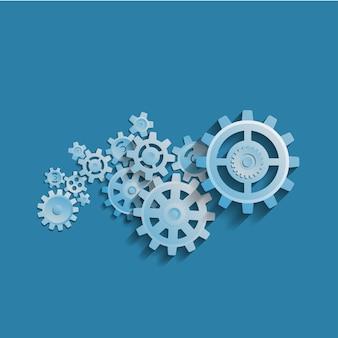 Concepto de proceso de negocio abstracto de ilustración de mecanismo de rueda dentada