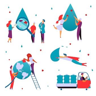 Concepto de producción de agua limpia.