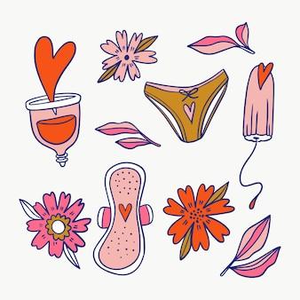 Concepto de productos de higiene femenina
