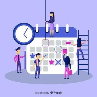 Concepto profesional de horario de planificación
