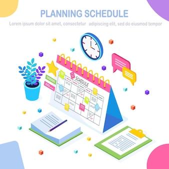 Concepto de programación de planificación.