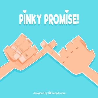 Concepto de promesa de meñiques dibujado a mano