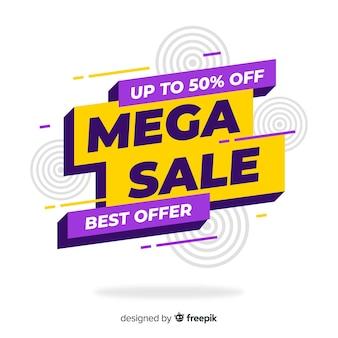 Concepto promocional de banners de mega sale