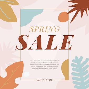Concepto promocional de venta de primavera