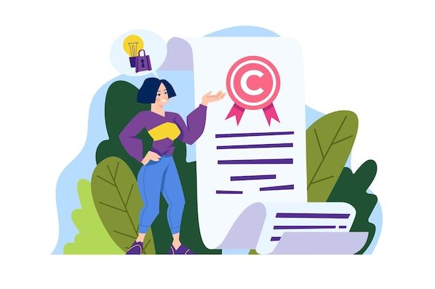 Concepto de propiedad intelectual ilustrado