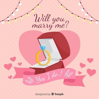 Concepto de propuesta de matrimonio