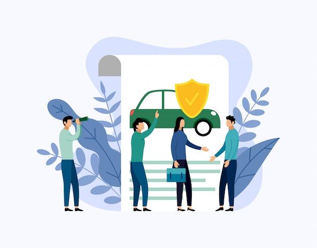 Concepto de protección del coche