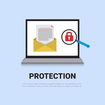 Concepto de protección de correo electrónico