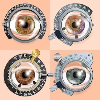 Concepto de prueba ocular