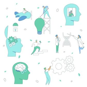 Concepto de psicología neurología cerebral