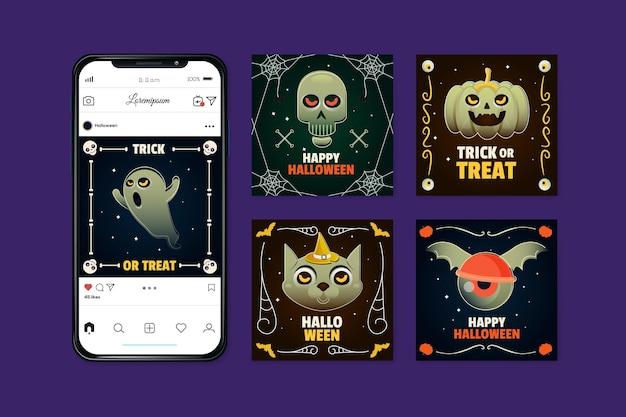 Concepto de publicación de instagram del festival de halloween