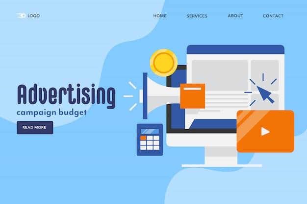 Concepto de publicidad en línea