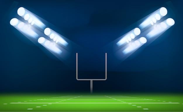 Concepto de puerta de fútbol americano, estilo realista