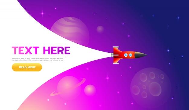 Concepto de puesta en marcha. icono de lanzamiento de cohetes: se puede utilizar para ilustrar temas cósmicos o la puesta en marcha de una empresa, el lanzamiento de una nueva empresa