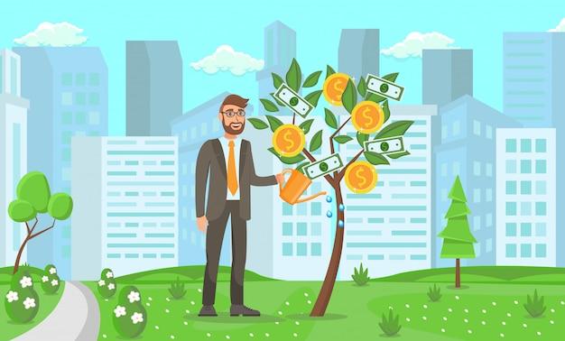 Concepto de puesta en marcha de negocios. vector ilustración plana