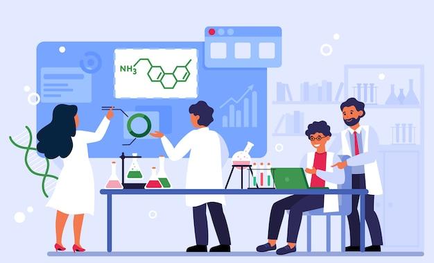 Concepto de química y laboratorio