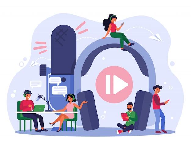 Concepto de radiodifusión vector gratuito