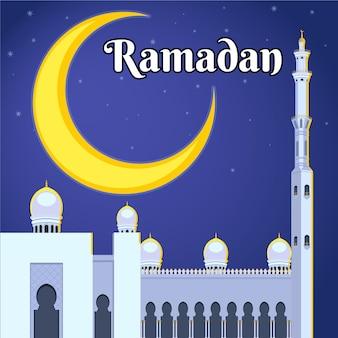Concepto de ramadán de diseño plano