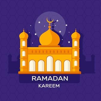 Concepto de ramadán en diseño plano