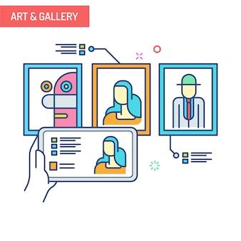 Concepto de realidad aumentada - art & gallery
