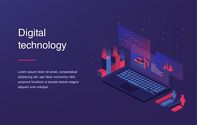 Concepto de realidad aumentada tecnología de ciudad inteligente. plantilla de página de destino