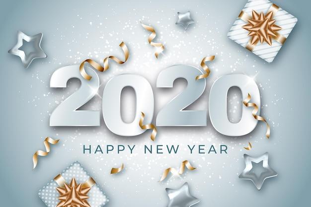 Concepto realista de año nuevo 2021