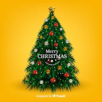 Concepto realista de árbol de navidad
