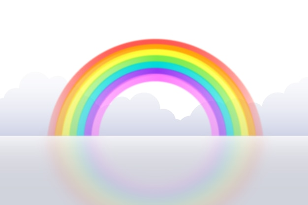 Concepto realista del arco iris