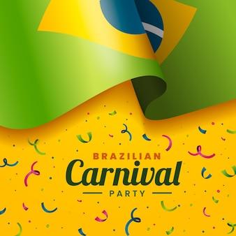 Concepto realista de carnaval brasileño