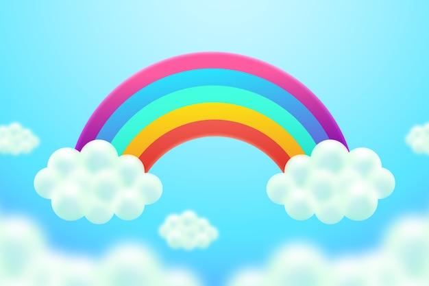 Concepto realista colorido arco iris