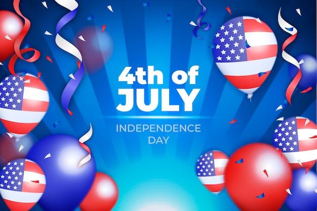 Concepto realista del día de la independencia de estados unidos