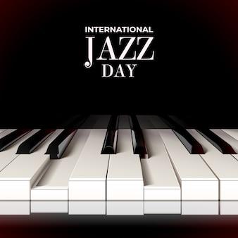 Concepto realista del día internacional del jazz