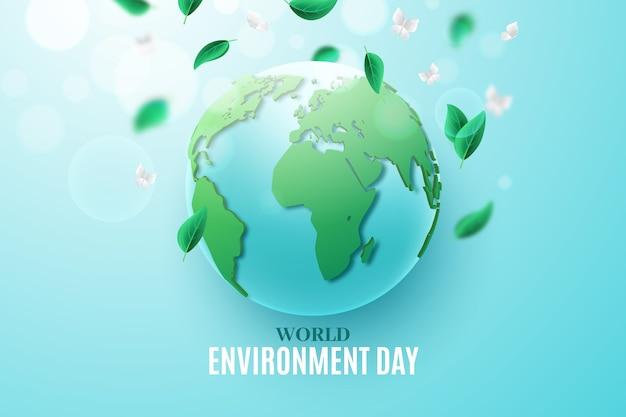 Concepto realista del día mundial del medio ambiente