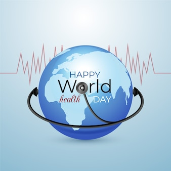 Concepto realista del día mundial de la salud
