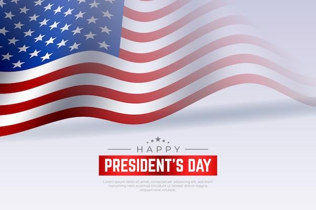 Concepto realista del día del presidente