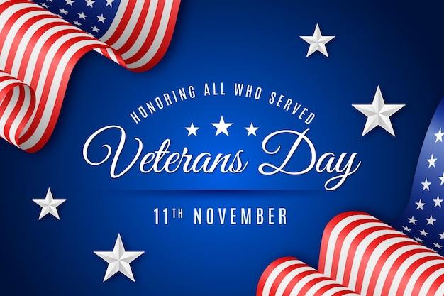 Concepto realista del día de los veteranos