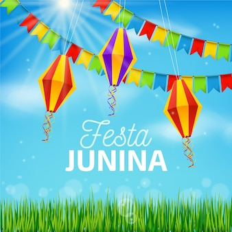 Concepto realista de festa junina