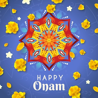 Concepto realista del festival onam