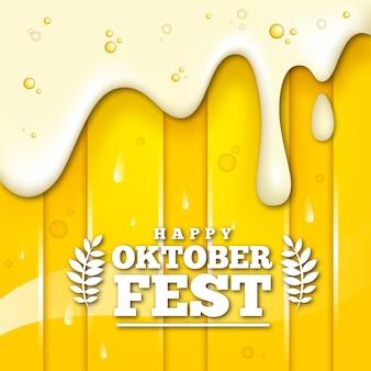 Concepto realista de la fiesta de octubre