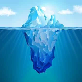 Concepto realista de iceberg