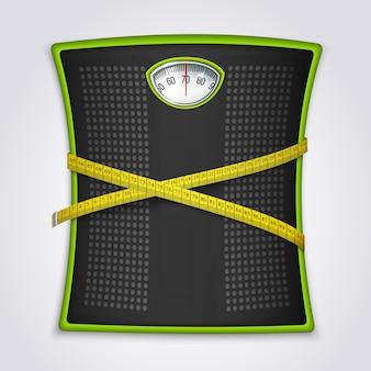 Concepto realista de pérdida de peso fitness