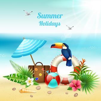 Concepto realista de vacaciones de verano